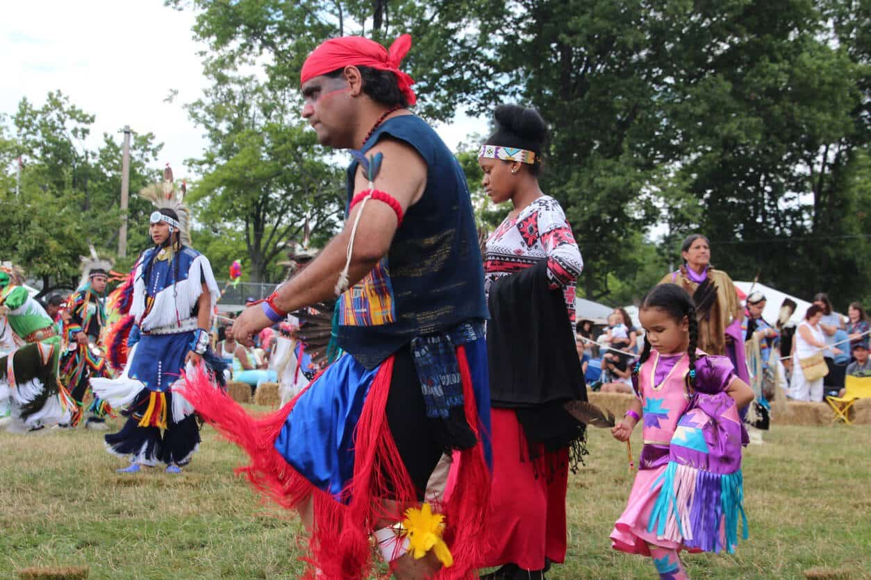 Native Americans at annual pow-wow
